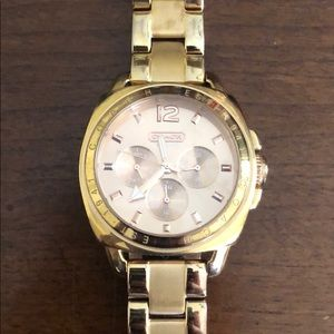 COACH Rose Gold Link Watch